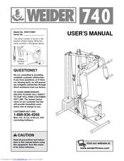weider 740 user manual pdf download rh manualslib com Online User Guide Online User Guide