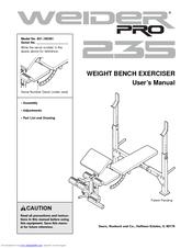 Weider Pro 235 Bench Manuals