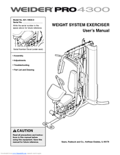 weider pro 4300 manuals rh manualslib com Weider Pro 9940 Cable Replacement Weider Pro 9930 Assembly