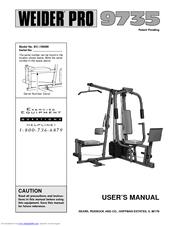 weider pro 9735 manuals rh manualslib com Weider Home Gym Equipment Weider Home Gym Assembly