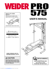 Weider home gyms pro 575 user's manual download free.