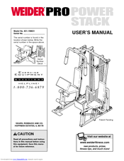 weider pro power stack 831 159831 user manual pdf download rh manualslib com weider pro power stack 550 exercise guide weider pro power stack 550 exercises