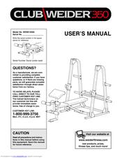 Weider Club 350 Manuals