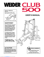 Weider 500 Manuals