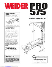Weider pro 575 user manual | page 11 / 26.