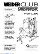 Weider Club C650 Manuals