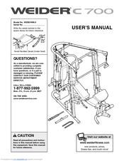 Weider C700 Bench Manuals