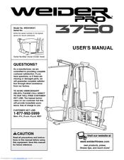 weider pro 3750 manuals rh manualslib com Quick Reference Guide Quick Reference Guide