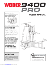 Weider Pro 9400 User Manual