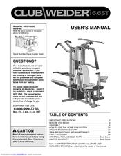 Club weider 16. 6st manuals.