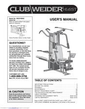 Weider club 16. 6st support and manuals.