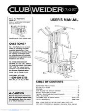 Club weider 16. 6st wesy49200 manuals.