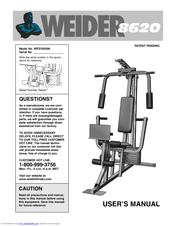 weider 8620 manuals rh manualslib com Weider 8530 Home Gym System Weider Home Gym Assembly
