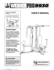 Weider Pro 9930 User Manual