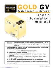 Weil-mclain Gold GV 3 Series Manuals