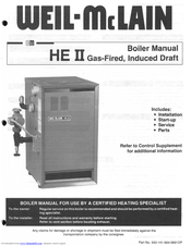 Weil-mclain HE II Boiler Manuals