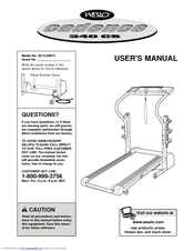 Weslo CADENCE 340 CS User Manual