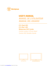 Westinghouse LTV-40w1 HDC User Manual