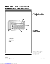 Whirlpool Comfort-Aire RA51K0 Use & Care Manual And Installation Instructions