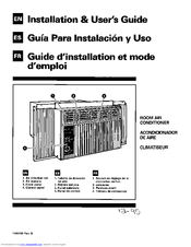 Whirlpool BHAC0600BS0 Installation & User Manual