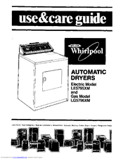 Whirlpool ELECTRIC LE5795XM Use & Care Manual