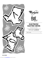 Whirlpool DUET SPORT W10151580B Use And Care Manual