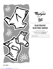 Whirlpool WED9400SW - ADA Compliant, 7.2 Capacity Manuals on