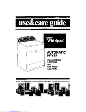 Whirlpool LE5720XP Use And Care Manual
