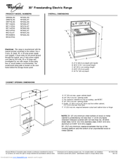 Whirlpool GR563LXS Dimensions And Installation Information