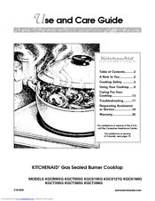 KitchenAid KGCS105GSS   30 Inch Sealed Burner Gas Cooktop Use And Care  Manual
