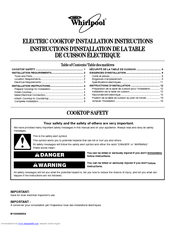 Whirlpool G7CE3034XC Installation Instructions Manual