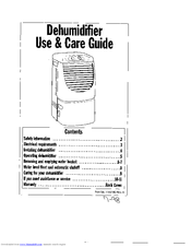 Whirlpool 1182182 Use And Care Manual