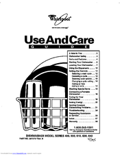 Whirlpool 400 series Use And Care Manual