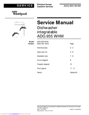 Whirlpool ADG 955 WHM Service Manual