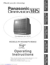 panasonic omnivision pv m2058 manuals rh manualslib com Panasonic TV VCR Combo Problems TV with VCR and DVD