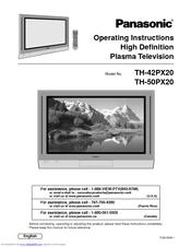 panasonic viera th 42px20 manuals rh manualslib com Panasonic TV Manual Panasonic Technical Support