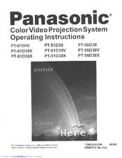 panasonic projection tv manual open source user manual u2022 rh dramatic varieties com Panasonic Viera Manual Panasonic Plasma TV