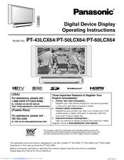 panasonic 60lcx64 pt 60 rear projection tv manuals rh manualslib com Sony 52 Inch Projection TV Sony 52 Inch Projection TV