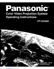 Panasonic PT-51G44 Operating Instructions Manual