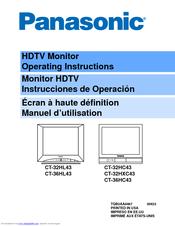 panasonic ct36hl43g 36 color tv manuals rh manualslib com panasonic tv manual tc-l32e5-1 panasonic tv manual tc-p50x5