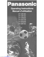 Panasonic CT-13R18 Operating Instructions Manual