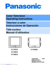 panasonic ct27e33g 27 color tv manuals rh manualslib com Panasonic Blu-ray Disc Player Manual Panasonic TV Schematics