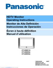 panasonic ct30wx54j 30 color tv manuals rh manualslib com Manual Panasonic Toughbook Manual Panasonic Toughbook
