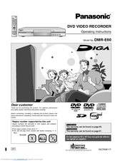 panasonic diga dmr e60 manuals rh manualslib com Panasonic DMR EZ485V Panasonic DMR Recorders