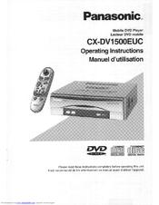 panasonic cxdv1500euc car dvd player manuals rh manualslib com Panasonic Portable DVD Player Cases Panasonic DVD VHS Combo Player