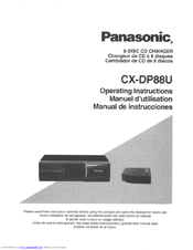 panasonic cx dp88 operating instructions manual pdf download rh manualslib com panasonic 5 disc cd changer manual panasonic dp88 cd changer manual