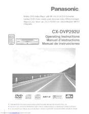 panasonic cxdvp292u car dvd player manuals rh manualslib com Panasonic DVD CD Player Panasonic DVD CD Player