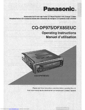 Panasonic CQ-DP975 Operating Instructions Manual