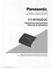 Panasonic CY-M7052 Operating Operating Instructions Manual