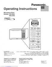 panasonic genius prestige microwave manual demo mode